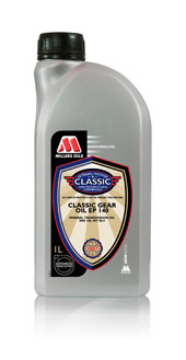 Millers Oils Classic EP140 GL4 gear oil for classic transmissions 1 litre
