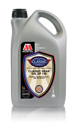 Millers Oils Classic EP140 GL4 gear oil for classic transmissions  5 litres