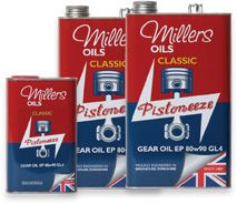 Millers Oils Classic EP80w90 GL4 gear oil for classic transmissions 1 litre