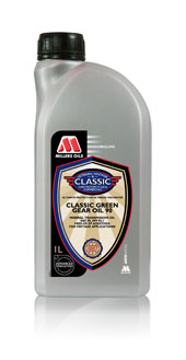 Millers Oils Classic Green Gear Oil 90 GL1 mineral gear oil without EP additives  1 litre